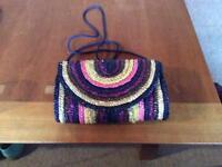Multicoloured straw handbag