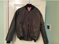 Brand new mens green bomber jacket size medium £30ono