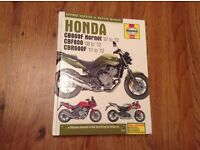 Honda Hornet 07 Haynes manual