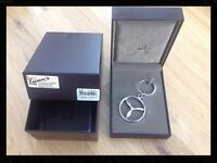 Solid Silver Gents Keyring from Lunns the Jewellers boxed in perfect condition never used