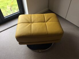 Leather swivel footstool