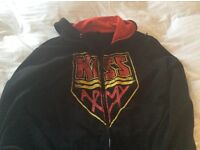 """Kiss Army"" Hooded Sweatshirt size Large"