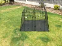 Barjo VK4XD heavy duty double dog crate for large estate car