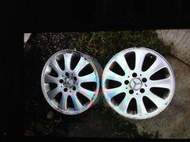 """Mercedes Benz C Class Original Alloy Wheels 16"""""""
