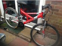 Adults Dual Suspension mountain bike 18 Sp