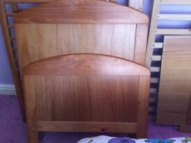 Cot bed and matching changing unit