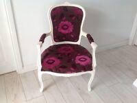 Lovely Cream Ornate Chair