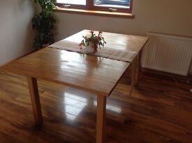 Kea extending pine kitchen dining table