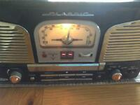 Stereo CD player and radio