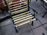 Refurbished garden bench and chair