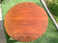 Round wooden coffee or occasional table