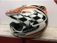 Two motocross helmets