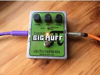 Electro Harmonix Bass Big Muff pi distortion and overdrive pedal