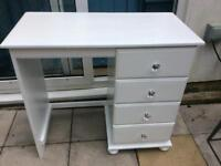 Dulux white painted desk/dressing table