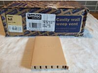 50 Trimloc Cavity Wall Weep Vents Buff Colour