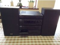 Aiwa turntable and cassette player