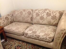 Barker and Stonehouse settee, chair and padded storage stool