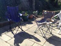 2 folding armchairs