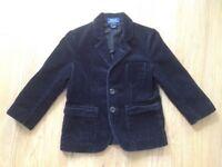 Ralph Lauren boys corduroy black jacket 3/3T 3-4