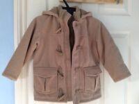 Cosy boy's winter duffle coat