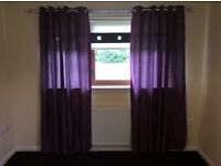 "Purple curtains 66"" X 82"" drop"