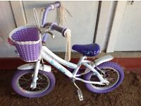 Child's bicycle , also have stabilisers, brand name Songbird, suitable 4 to 5 year old.