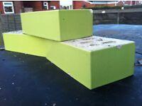 Green faced bricks