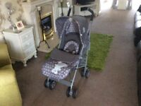 Obaby Grey Tiny Tatty Ted Stroller