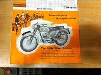 BSA Motorcycle Brochure.