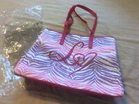 Lipsy London Zebra Ombre Tote Beach Shoulder Hand Bag