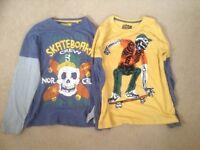 2 Long Sleeve T-Shirts Age 11 years