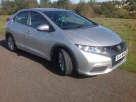 Honda Civic 1.4 i-VTEC SE 5dr Man 2014 (14 Reg) Price £7950 FSH Bluetooth Parking Sensors