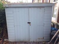 Wooden garden shed £50