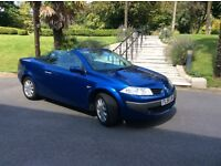 56 RENAULT MEGANE CONVERTIBLE 1.6 BLUE COLOUR HARDTOP WITH PANORAMIC ROOF