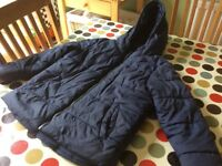 Navy blue puffer jacket age 6
