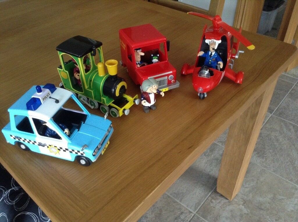 Postman Pat Collection Train Police Car Van Helicopter In Good Used Condition