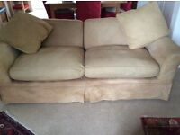Three seater sofa, loose covers. Hand dyed cover with variation . Shabby Chic