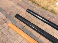 Plastic guttering white black tan choose the 1 you want or buy all three