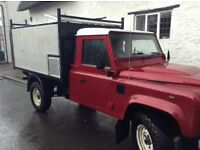 2012 61reg Landrover 130 Tipper 58k fsh new tree alloy body towbar new front winch ew cd as new