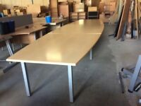 Light Oak Large Rectangle Conferrence Table