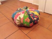 Oriental patterned pouffe
