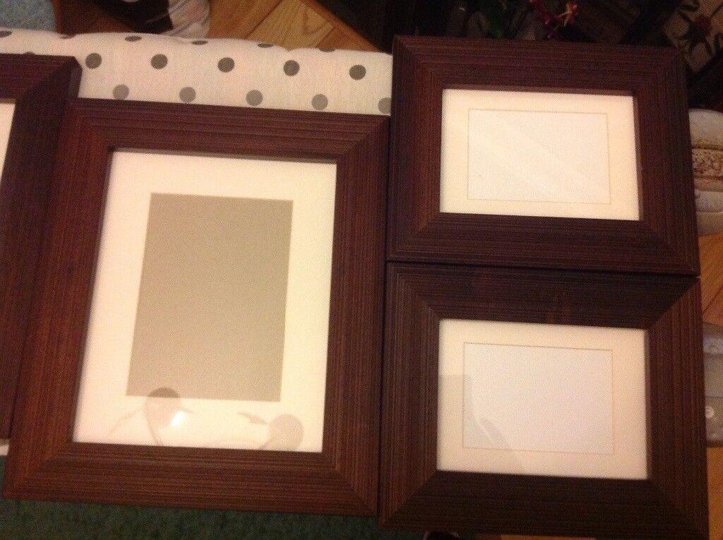 6 x dark wood photo frames - Wood Frames For Canvas