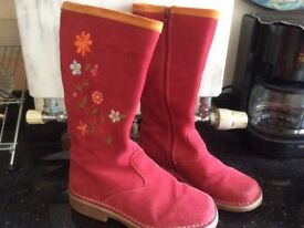 BODEN real suede boots