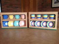 Two Sets of Four Coffee Cups - BRAND NEW