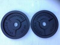 2 x 15kg Bodypower v2 Olympic Cast Iron Weights