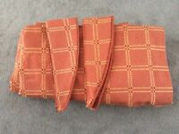 Brick coloured curtains fully lined and in very good condition.