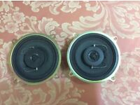 Pair of clarion car speakers new 40 watt balance dome