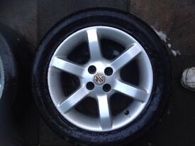 MG WHEELS X2 WITH TYRES SIZE 15 INCH