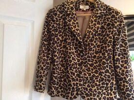 Leopard fur jacket size 16