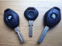 BMW SPARE KEY CUT & PROGRAMMED/ MODELS E46 E39 E83 E53 X5 Z4 E36 E38 320 CI ESTATE 330CI 320CD M